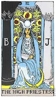 the High Priestess from the Rider Waite Smith deck